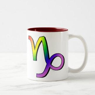 GLBT Capricorn Two-Tone Coffee Mug