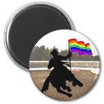 GLBT Cowboy Pride 2 Inch Round Magnet