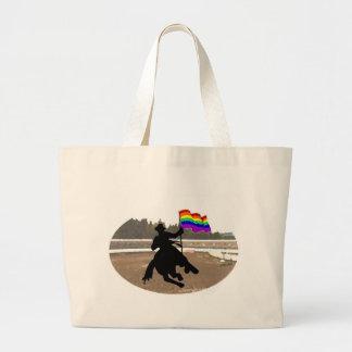 GLBT Cowboy Pride Canvas Bag