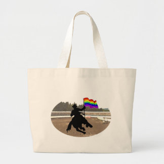 GLBT Cowboy Pride Jumbo Tote Bag
