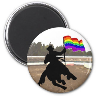 GLBT Cowboy Pride Magnets