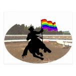 GLBT Cowboy Pride Postcard