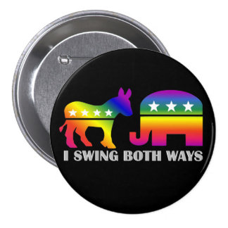 GLBT Democrat/Republican Swing Voter Button