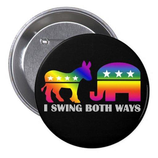 GLBT Democrat/Republican Swing Voter Pins