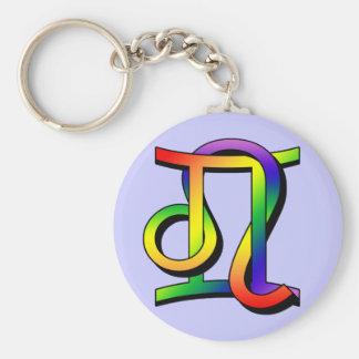 GLBT Gemini & Leo Key Chains
