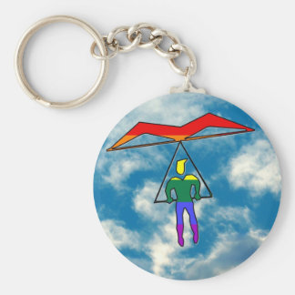 GLBT Hang Glider Basic Round Button Keychain