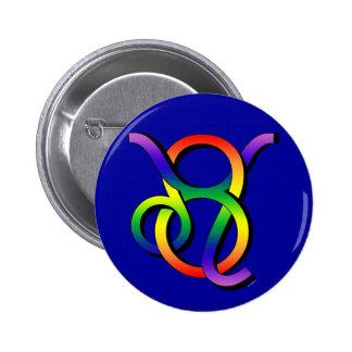 GLBT Leo & Taurus Button