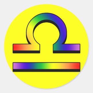 GLBT Libra Round Sticker