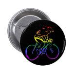 GLBT Pride Bicyclist Button