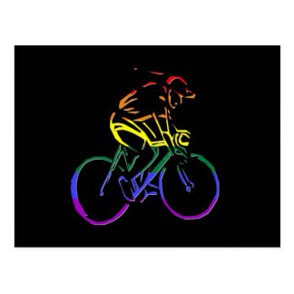 GLBT Pride Bicyclist Postcard