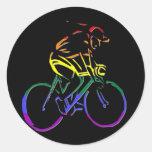 GLBT Pride Bicyclist Sticker