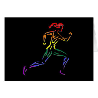GLBT Pride Female Runner Card