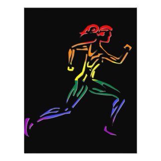 GLBT Pride Female Runner Flyer