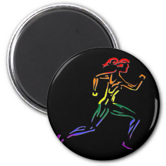 GLBT Pride Female Runner Magnet