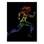 GLBT Pride Female Runner Postcard