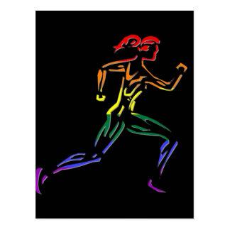 GLBT Pride Female Runner Post Card