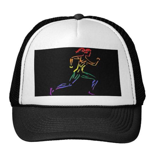 GLBT Pride Female Runner Trucker Hat