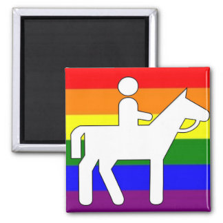 GLBT Pride Horseback Riding Magnet