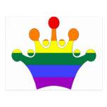GLBT Pride Imperial Crown Postcard