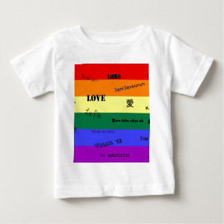 "GLBT Pride: ""Love"" in Many Languages Baby T-Shirt"
