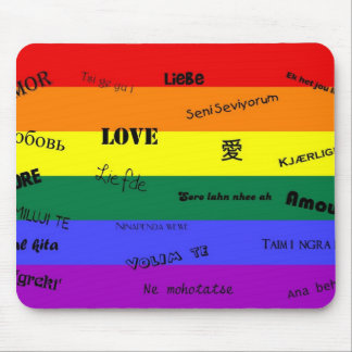 """GLBT Pride: """"Love"""" in Many Languages Mouse Pad"""