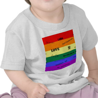 """GLBT Pride: """"Love"""" in Many Languages T-shirt"""