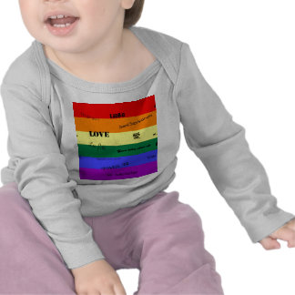 """GLBT Pride: """"Love"""" in Many Languages T Shirts"""