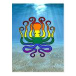 GLBT Pride Octopus Postcards