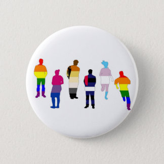 GLBT Pride People Button