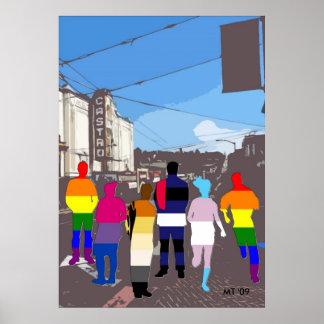 GLBT Pride People in the Castro #2 Art Print