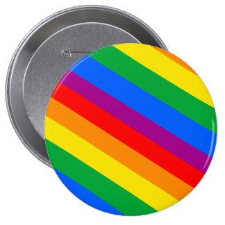 GLBT Pride Stripes 2 Pinback Button