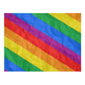GLBT Pride Stripes 2 Post Card