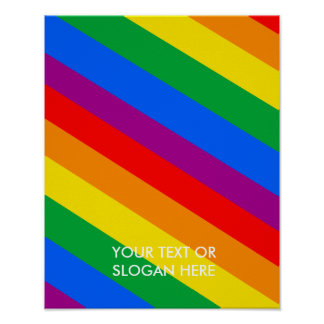 GLBT Pride Stripes 2 Poster
