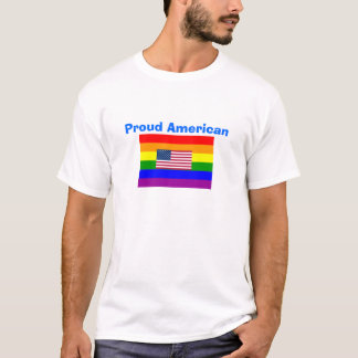 GLBT* Proud American Gay and American Flag Shirt