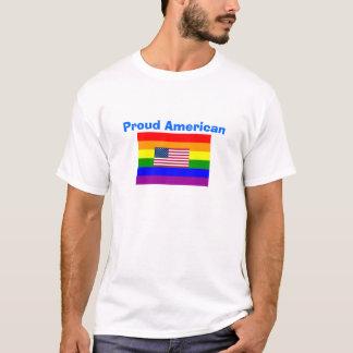 GLBT* Proud American Gay and American Flag Shirt