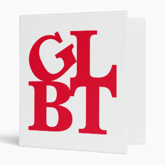 GLBT Red Pop Avery Binder