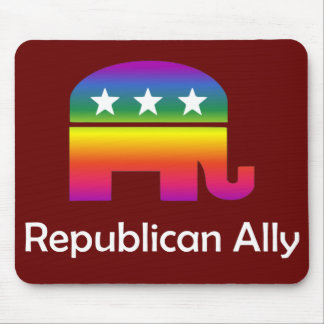 GLBT Republican Ally Mouse Pad