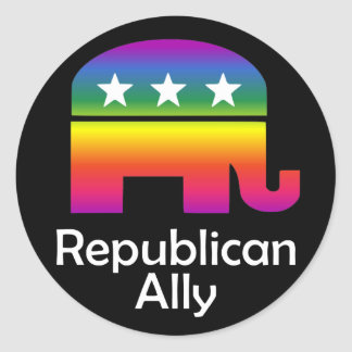 GLBT Republican Ally Round Stickers
