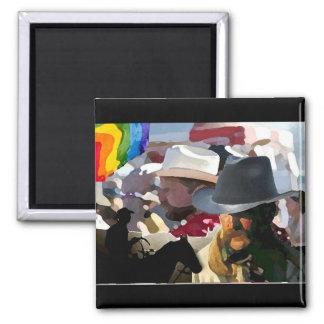 GLBT Rodeo Pride Refrigerator Magnets