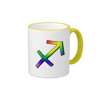 GLBT Sagittarius Ringer Mug