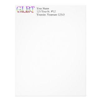 GLBT Support Rainbow Text Letterhead