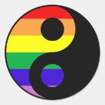 GLBT Yin Yang Classic Round Sticker