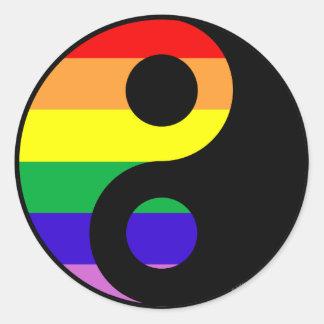 GLBT Yin Yang Etiquetas