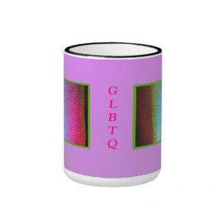 GLBTQ con la iluminación del lavado del LED Taza De Dos Colores