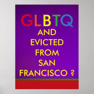 GLBTQ desahuciado de San Francisco Póster