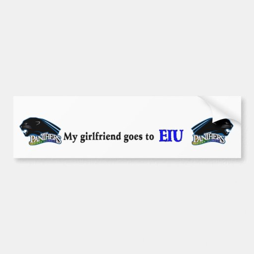 GLBTQ friendly EIU bumper sticker2 Car Bumper Sticker