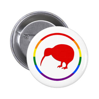 GLBTQ Pride-Kiwi & New Zealand Pinback Button