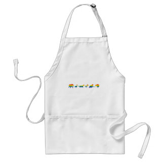 GLBTQ Pride Menagerie of Animals Adult Apron
