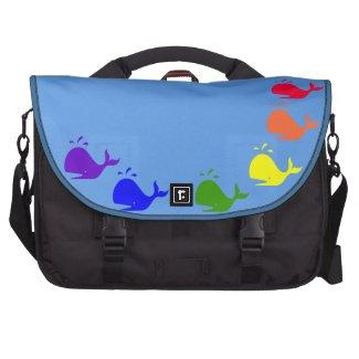 GLBTQ Rainbow Whales Laptop Bag