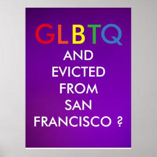 ¿GLBTQ y desahuciado de San Francisco? Póster